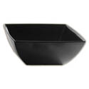 LaSalle Manor Prestige 28 oz.  Classic Black 8-1/2\x22 Square Melamine Salad Bowl