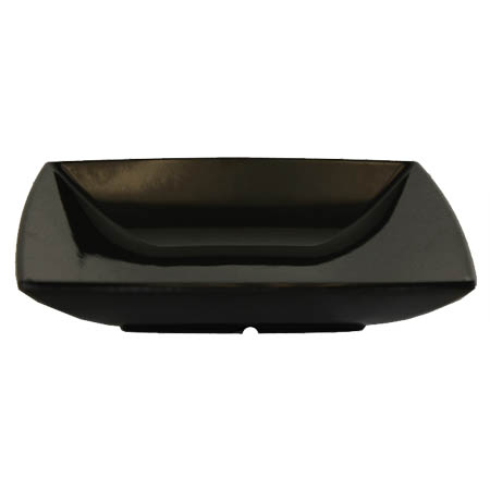 "LaSalle Manor Prestige 60 oz. Classic Black 8"" Square Bowl"
