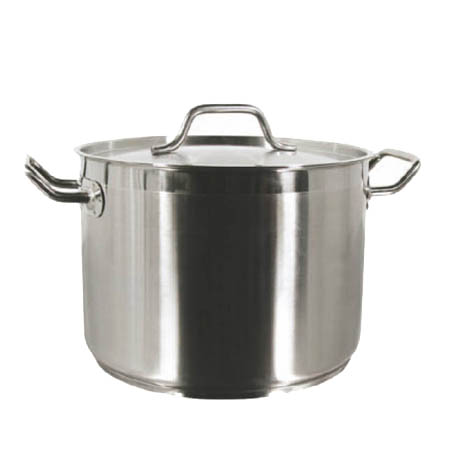 40-Quart Induction Ready Stainless Steel Stock Pot with Cover