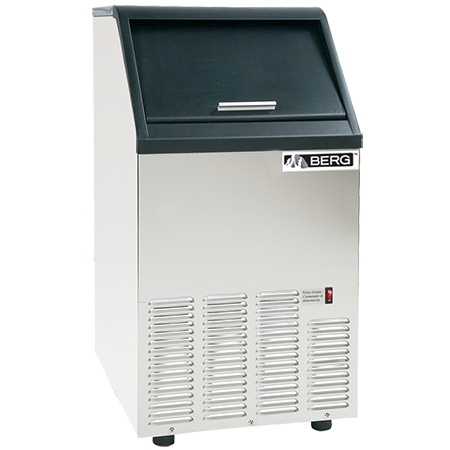 "Berg 75 lb. Air Cooled Ice Machine with 25 lb. Bin 16-1/2""W"