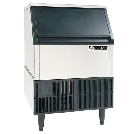 "Berg 260 lb. Air Cooled Ice Machine with 75 lb. Bin 24""W"