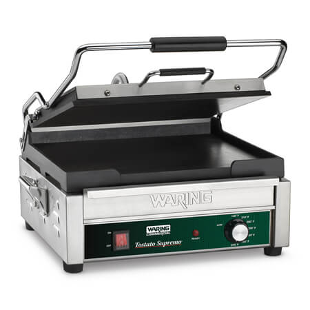 "Waring  Supremo 14-1/2"" x 11"" Panini Smooth Surface Sandwich Grill"