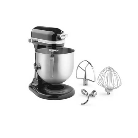 "KitchenAid Refurbished 8-Quart Black Variable Speed Commercial Stand Mixer with Accessories 13-1/3""W"