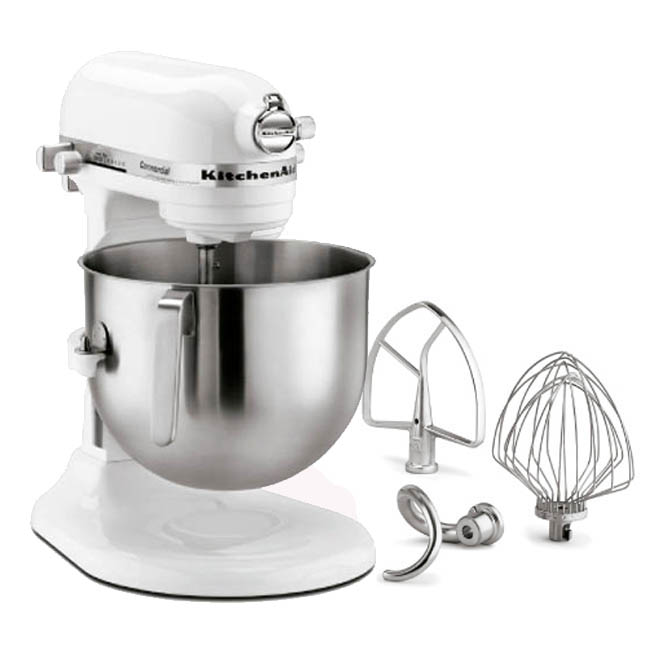 kitchenaid 8 quart white variable speed stand mixer with accessories 13 1 3w. Black Bedroom Furniture Sets. Home Design Ideas