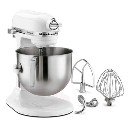 KitchenAid 8-Quart Variable Speed 1.3 HP Commercial Stand Mixer with Accessories