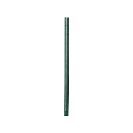 "74"" Green Epoxy-Coated Post for Wire Shelving"