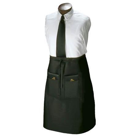 Ritz 2-Pocket Black Bistro Apron