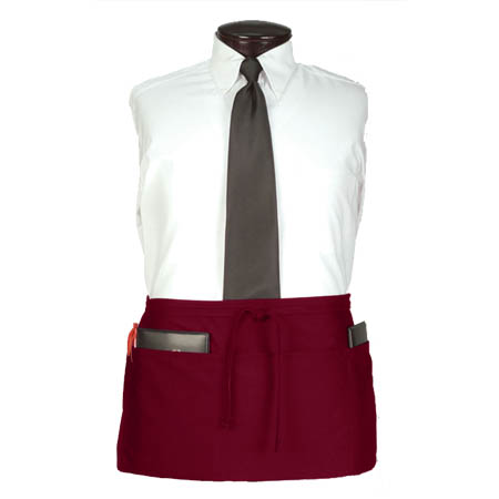 Ritz 4-Pocket Burgundy Waist Apron