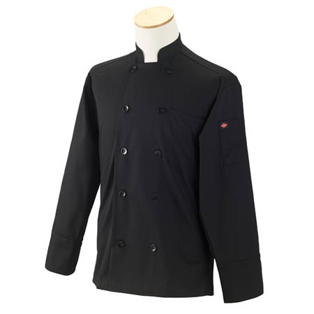 Kitchen Wears™ Large 10-button Black Chef Coat
