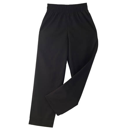 Kitchen Wears™ 2X-Large Black Baggy Chef Pants