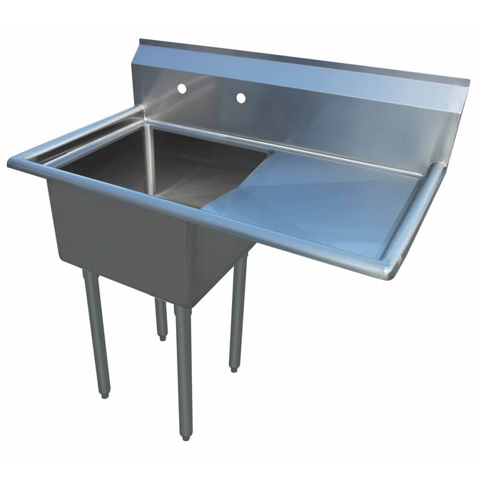 Sauber 1 Compartment Stainless Steel Sink With 18 Drainboard On