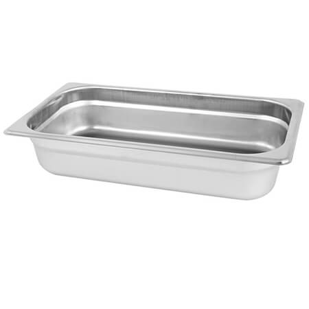 "1/4-Size Anti-Jam Standard Weight Stainless Steel Food Pan 2-1/2"" Deep"