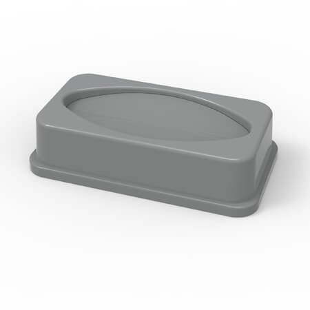 Lid for 23-Gallon Gray Slender Trash Container