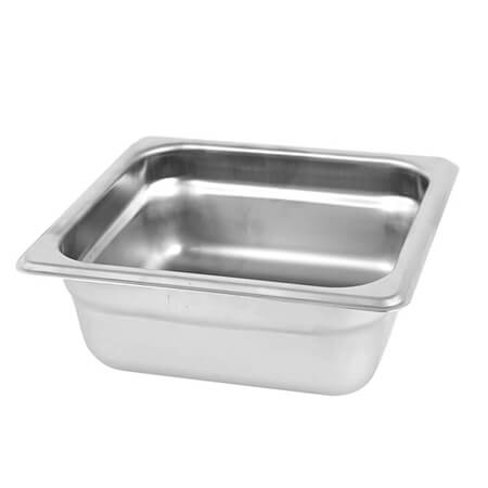 "1/6-Size Anti-Jam Standard Weight Stainless Steel Food Pan 2-1/2"" Deep"