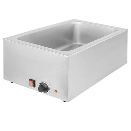 "Sentinel Full Size Stainless Steel Countertop Food Warmer 14-1/2""W"