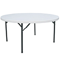 Modesto 60\x22 Round Molded Plastic Folding Table