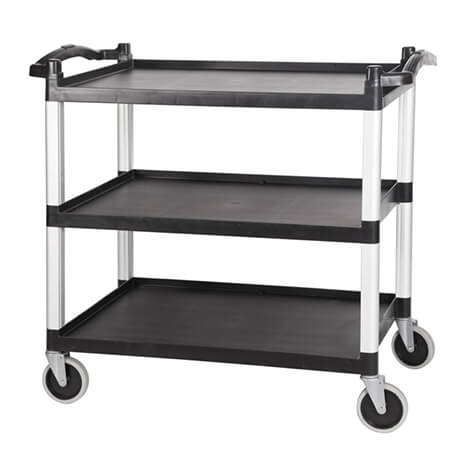 3-Shelf 220 lb. Capacity Utility Bus Cart