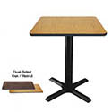 Modesto Dual-Sided Oak/Walnut Dining-Height Table Kit 29-1/4
