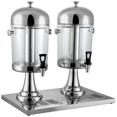 Bradford Hall Double 2.1 Gallon Cold Beverage Dispenser