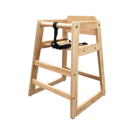 Modesto Natural Finish Wood High Chair