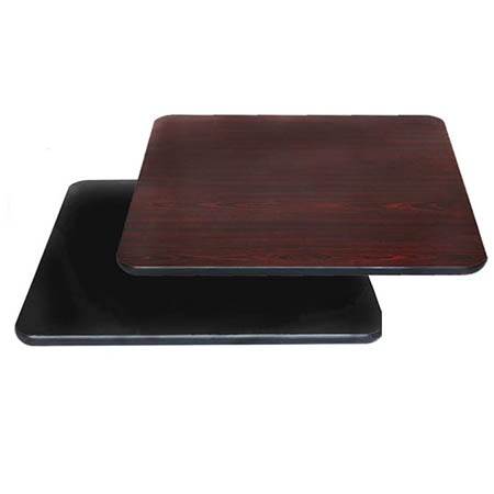 "24"" x 30"" Black/Mahogany Dual-Sided Table Top"