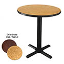 "42"" Round Oak/Walnut Dining-Height Dual-Sided Table Kit 29-1/4""H"