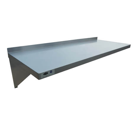 "Sauber Stainless Steel Wall Shelf 18""D x 48""W"