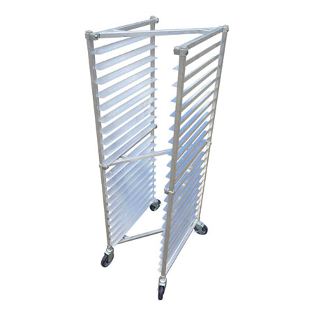 Full-Size Aluminum Sheet Pan Rack for 20 Full-Size Pans