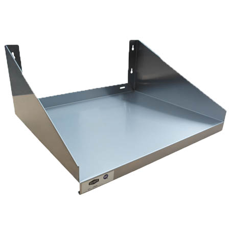 "Sauber Stainless Steel Microwave Shelf 18""D x 24""W"
