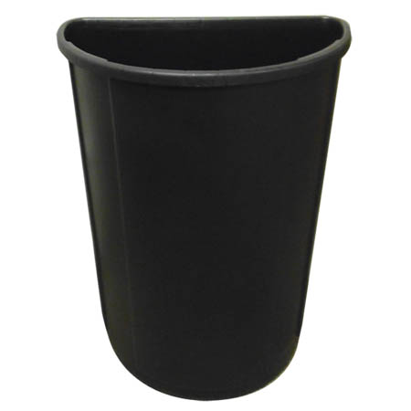 21-Gallon Black Half Round Trash Container
