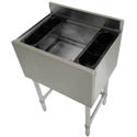Sauber Stainless Steel Cocktail Station w/ 12\x22 Deep Ice Bin