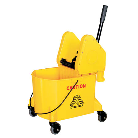 28.5-Quart Yellow Mop Bucket with Wringer