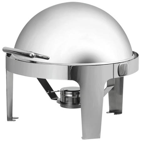 Bradford Hall 5.5-Quart Round Chafer with Roll Top Lid