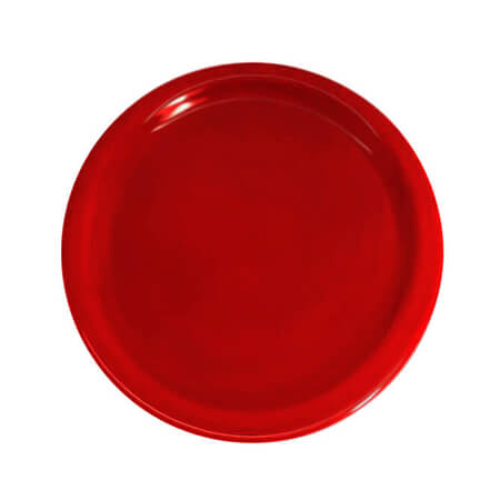 "LaSalle Manor 9"" Round Red Dinner Plate"