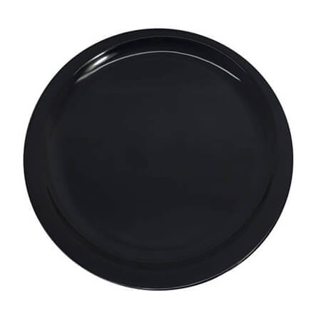 "LaSalle Manor 9"" Round Black Dinner Plate"