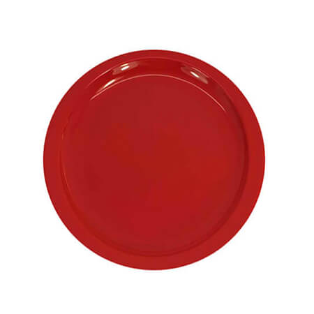 "LaSalle Manor 7-1/4"" Red Sandwich Plate"