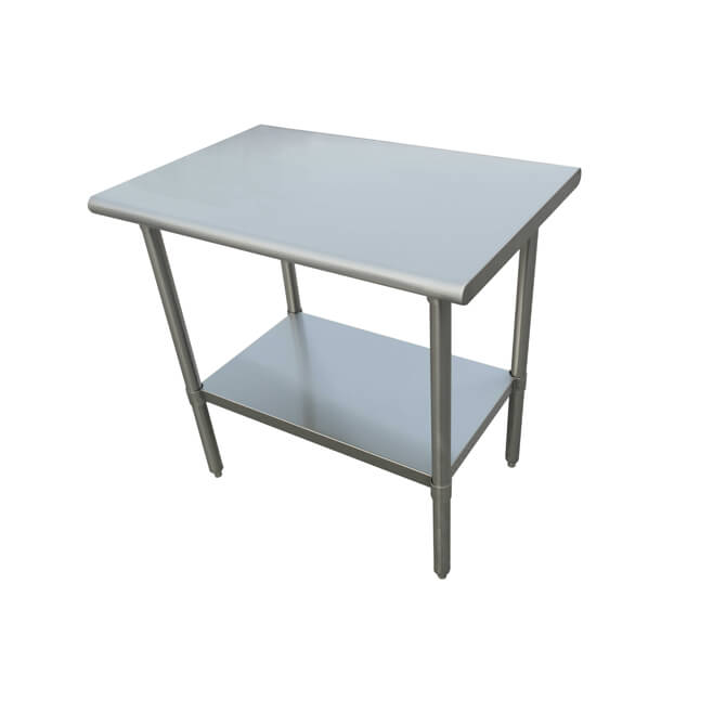 Sauber Select Heavy Duty All Stainless Steel Work Table With - 30 x 60 stainless steel work table