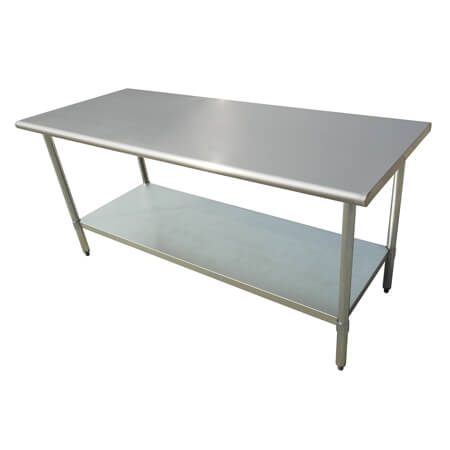 "Sauber Select Heavy Duty All Stainless Steel Work Table 72""W x 30""D x 36""H"