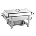 Bradford Hall 9-Quart Rectangular Stainless Steel Chafer