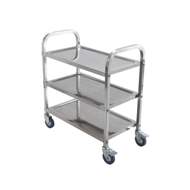 Winco 3 Shelf 330 Lb Capacity Stainless Steel Utility Cart