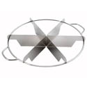 Winco 6 Cut Size Stainless Steel Pie Cutter