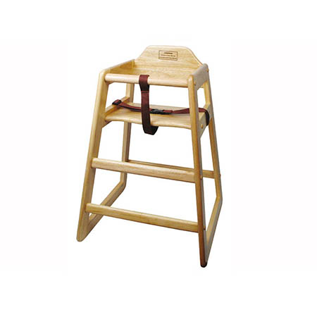 Natural Finish Wood High Chair