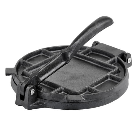 "Winco 8"" Cast Iron Tortilla Press"