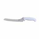 Winco Stal 9\x22 Offset White Handle Bread Knife