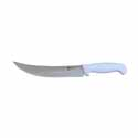 Winco Cimeter 9-1/2\x22 White Handle Steak Knife