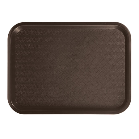 "Winco Plastic Brown Fast Food Tray 10"" x 14"""
