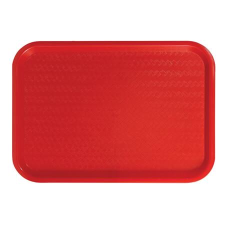 "Winco Plastic Red Fast Food Tray 12"" x 16"""