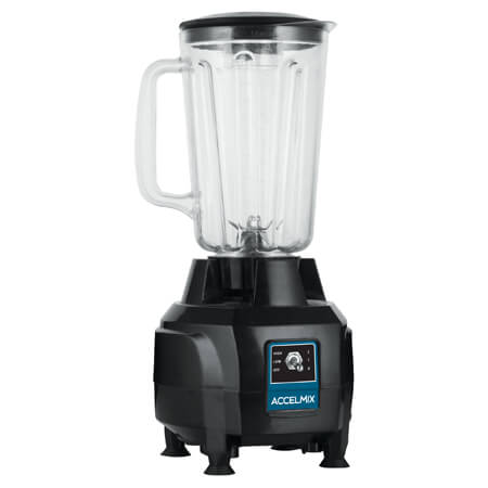 Winco AccelMix 1/2 HP Bar Blender with 44 oz. Container