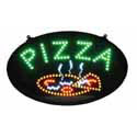 Pizza Flashing LED Window Sign 23-3/4\x22 x 14\x22