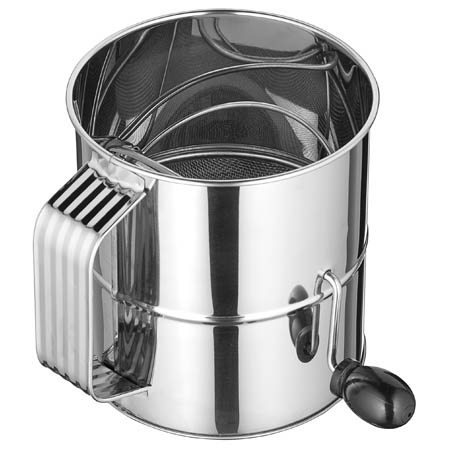 Winco 8 Cup Stainless Steel Rotary Sifter